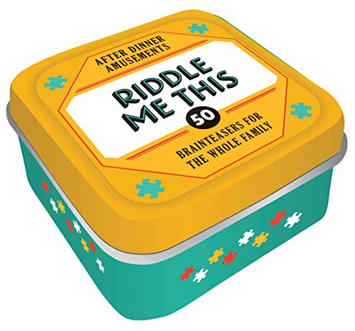 After Dinner Amusements: Riddle Me This: 50 Brainteasers for the Whole Family (Family Friendly Trivia Card Game, Portable Camping and Holiday Games)