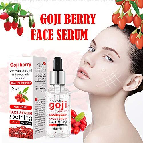 💖 jieGREAT Räumungsverkauf 💖 , Goji-Beeren-Serum für Gesicht topisches Gesichtsserum mit Hyaluronsäure-Vitamin