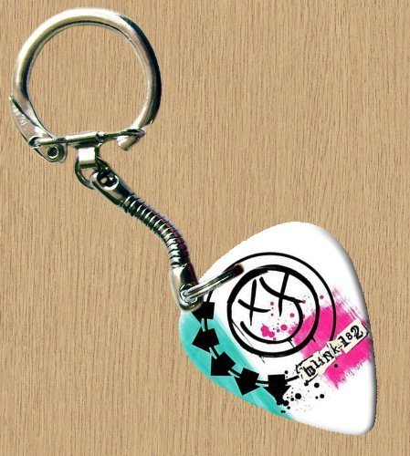 Blink 182 (Blanc) Premium de Guitare Porte-clés