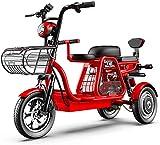 Triciclo eléctrico Profesional Viaje Entre Padres e Hijos Tres plazas 48V500W Super Power GPS Posicionamiento/Suspensión Independiente/Caja de Almacenamiento Grande Liquidación de inventario de