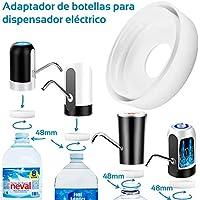 MovilCom® - Adaptador de Botella para dispensador de Agua Eléctrico Compatible con Botellas 5, 6, 8, 10, 12 litros | para Botellas o adaptadores con diámetro 48mm (48mm)