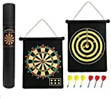 ADEPTNA Strong Magnet Dartboard Roll Up 6 Magnet Darts Double Sided Safe For Kids Adults Dart Board Game Party Set Gift Boxed
