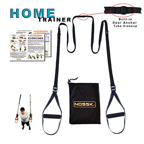 NOSSK Home Suspension Bodyweight Fitness Trainer (Black)