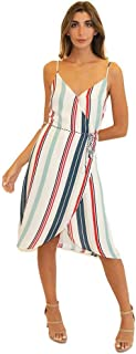 cupcakes and cashmere womens pirelli printed CDC wrap midi dress Dress