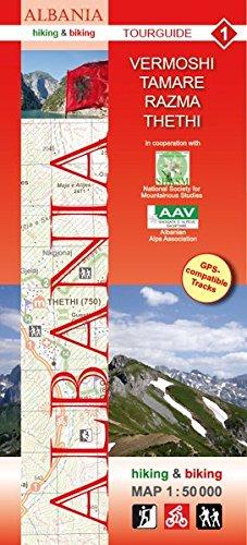 Albania hiking & biking 1:50000: Karte 1: Vermoshi - Tamare - Razma - Thethi