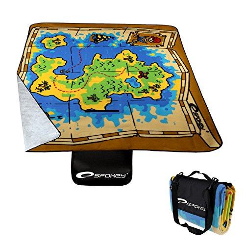 Spokey Unisex-Picknickdecke, Piraten-Motiv, Fleece/PVC, Mehrfarbig, Einheitsgröße