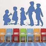 Calcomanías de pared para niños juegos parque infantil de la escuela área de juegos para niños decoración de interiores pegatinas de vinilo para ventanas murales de arte para dormitorio de niños