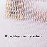 """Yangkee Moskitonetz,Universal rechteckige Polyestergewebe Single seitliche Öffnungen Einzelbett höngematte Moskitonetz für Zuhause & Reise-Betthimmel, 35.43"""" * 74.8"""" * 59""""(Weiß,1 Pcs) - 5"""