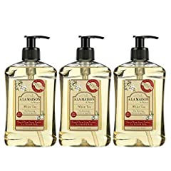 This bundle includes three 16.9 fl oz bottles of A La Maison de Provence Liquid Bath and Shower Soap Traditional French Milled Ultra Moisturizing With Olive & Argan Oils No SLS, Parabens or Phthalates For Sustainability & Biodiversity - Palm Oil Free