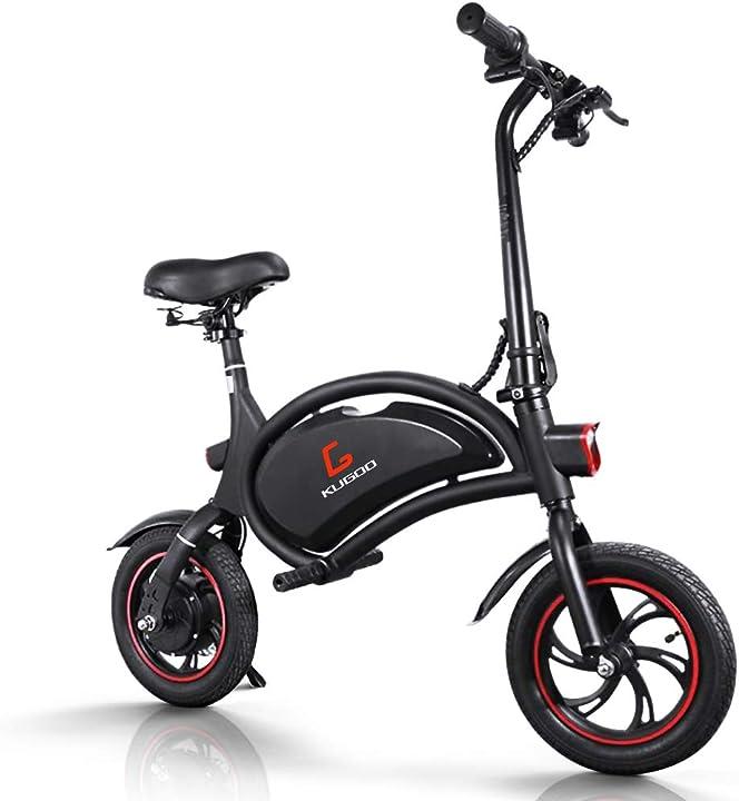 Bici elettrica pieghevole, velocità massima 25 km/h, sedile regolabile, batteria 36v 250w, 12 pollici B088PG1T12