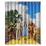 gwegvhvg Wizard of Oz - Cortina de Ducha (60 x 183 x 183 cm)
