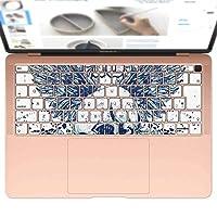 igsticker MacBook Air 13inch 2018 専用 キーボード用スキンシール キートップ ステッカー A1932 Apple マックブック エア ノートパソコン アクセサリー 保護 005345 ラグジュアリー クール ドクロ 骸骨 羽根 翼