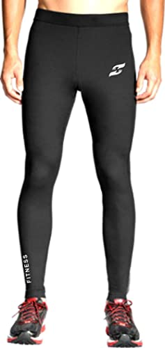 Just Care Men's Running Full Length Tights Compression Lower Sport Leggings Gym Fitness Sportswear Training Yoga Pant...