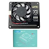 Bonnet de ventilateur Argon pour Raspberry Pi 4, Raspberry Pi 3B, et Raspberry Pi 3 B+ | Comprend un ventilateur de 40 mm et un bouton d'alimentation | Fournit un arrêt sécurisé et un redémarrage