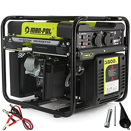 Generatore di corrente 3.5KW ad Inverter Potenza 3500W Silenziato Gruppo Elettrogeno 212cc 4 Tempi Benzina