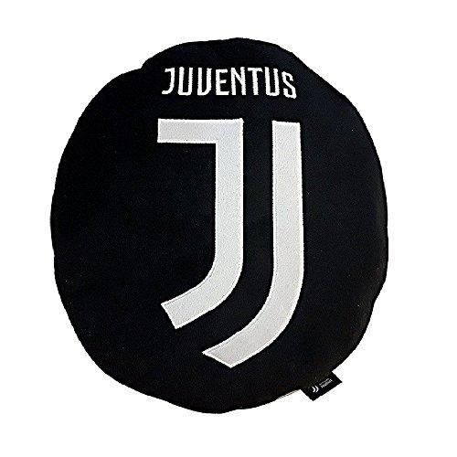 Juventus 9320 040 2131 Cuscino Arredo Sagomato, Poliestere, Nero, 40x40x7 cm