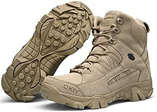 Absir Men Army Tactical Combat Military Ankle Boots Outdoor Hiking Desert Shoes sand color 44