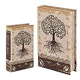 Vidal Regalos Caja con Forma de Libro Set 2 Unidades Arbol 26x17 cm