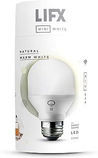 LIFX Mini White (A19) Wi-Fi Smart LED Light Bulb, Dimmable, Warm White, No Hub Required, Works with Alexa, Apple HomeKit a...