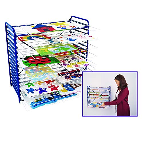 Colorations Art Drying Rack, Sturdy, Lightweight, Tabletop, Hanging, Ideal for letting Artwork Dry Without smudges or Making a Mess, Best use of Space (Item # MDR)