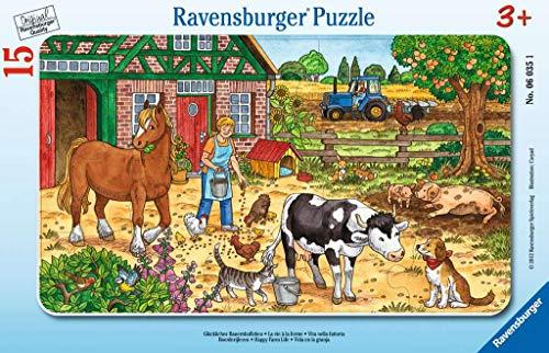Ravensburger Kinderpuzzle 06035 - Glückliches Bauernhofleben - Rahmenpuzzle