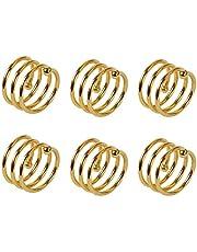 PENCIL2 6 Pack roestvrij staal spiraal servet ringen cirkel Serviette houders gespen voor bruiloft, partij, diner partij, tafeldecoraties