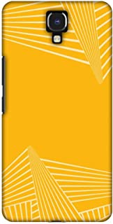 AMZER Slim Designer Snap On Hard Shell Case Back Cover for Infinix Note 4 - Carbon Fibre Redux Cyber Yellow 3