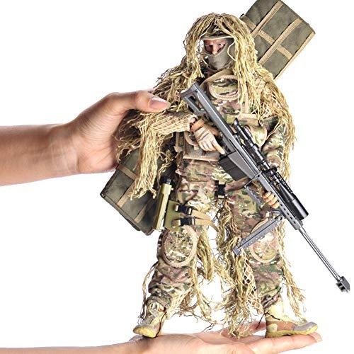 EXUVIATE 1/6 Desert Sniper Fuerzas Especiales Soldado Juego De Figuras De Acción Soldado del Ejército con Rifle De Francotirador, Jungla, Traje Propicio