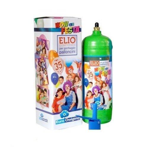 party store s.r.l. bombola elio per 35 palloncini + 35 palloncini 8 inch multicolor - euroossigeno