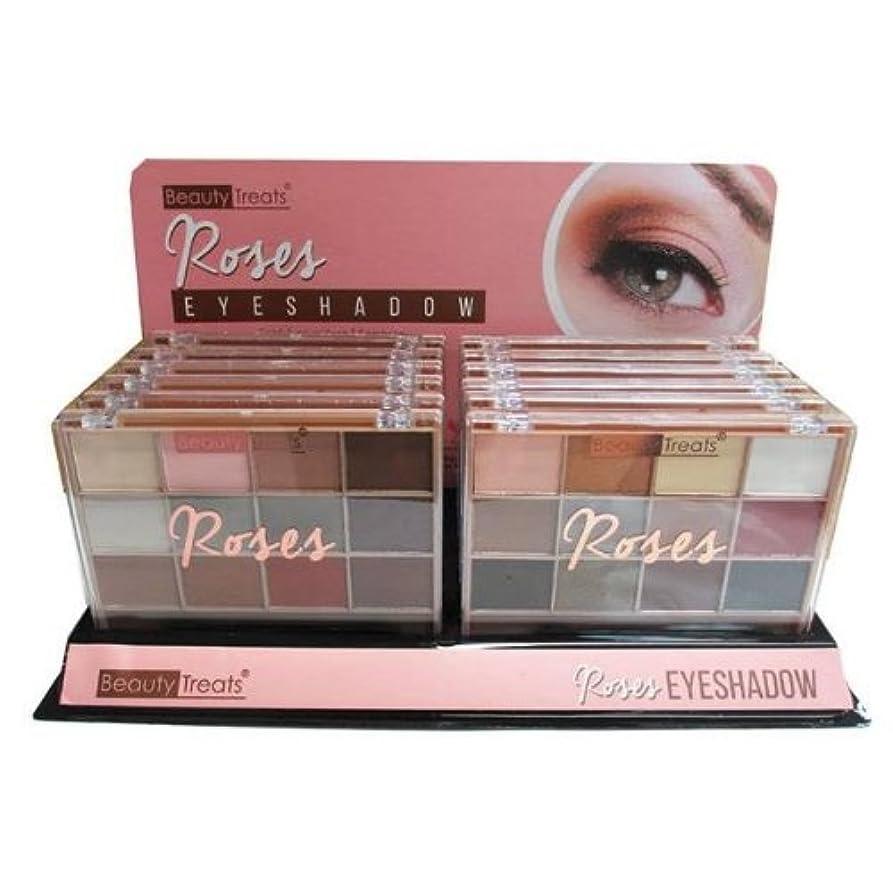 電気のりんごロッジBEAUTY TREATS Roses Eyeshadow Palette Display Case Set 12 Pieces (並行輸入品)
