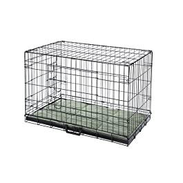 Confidence Pet Deluxe 2 Door Dog Cage Crate with Bed