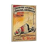 Grand Prix Bourgogne Dijon Poster, dekoratives Gemälde,