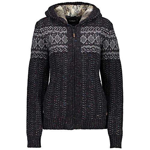 CMP Veste en maille tricotée Veste multifonctions Noir ISOL ierend Motif 7h56710, 42