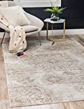 Unique Loom Sofia Collection Traditional Vintage Area Rug, 4' x 6', Tan/Ivory