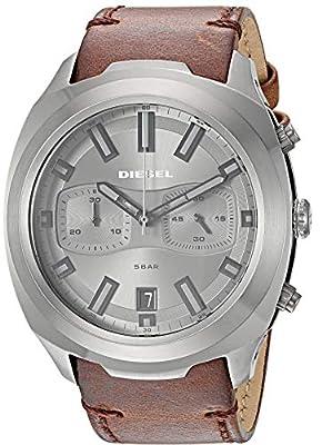 Diesel Herren Chronograph Quarz Uhr mit Leder Armband DZ4491 zum Angebotspreis.