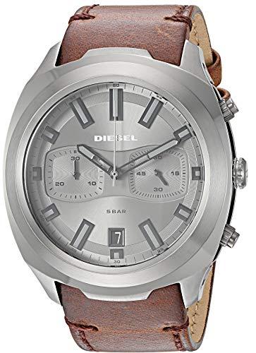 Diesel heren chronograaf kwarts horloge met lederen armband DZ4491