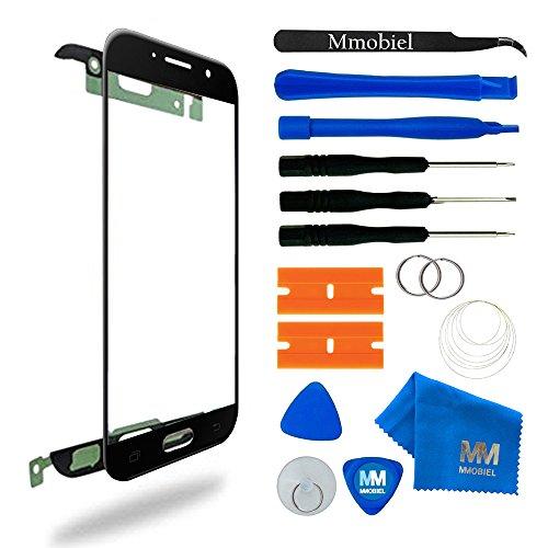 MMOBIEL Front Glas Reparatur Set kompatibel mit Samsung Galaxy A5 A520 (2017) Series (Schwarz) Display mit Werkzeug-Set