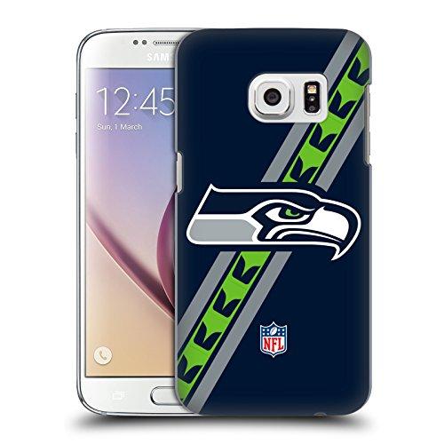 Head Case Designs Offizielle NFL Streifen Seattle Seahawks Logo Harte Rueckseiten Huelle kompatibel mit Samsung Galaxy S7