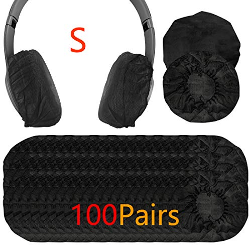 Geekria 100pairs Dehnbare Kopfhörer-Abdeckungen, Einweg-Ohrmuscheln für HD219, HD229, HD239, HD218, HD228, HD38, HD220, Beats Solo3, Solo2 Headset