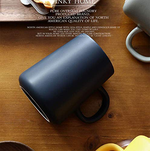 Aida Bz Ins Einfache Europäische Cup Nordic Ceramic Mug Große Kapazität Creative IKEA Haushalts Frühstück Tasse Kaffeetasse,Chrome