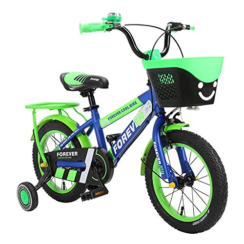 Axdwfd Kids Bike Kids Bike W/Training Wielen En Mand, 12