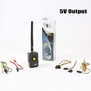 Flysight Black Mamba 2Watt 2000mW Long Range Audio Video Transmitter 5.8 ghz 40CH FPV Vtx for Gopro FPV Video Transmitter 5V Output (RPSMA ANT 5V Out)