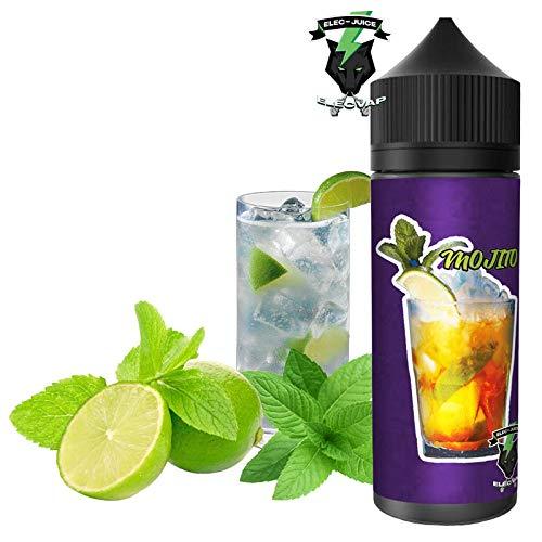 E-Liquide MOJITO de ElecVap - Sans nicotine 0mg et sans tabac. - 120 ml au format TDP - E liquide pour cigarettes électroniques - E-liquides pour Vaper