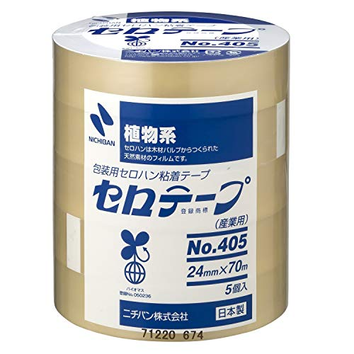 ニチバン セロテープ 大巻 24mm幅 70m巻 5巻入 405-24×70