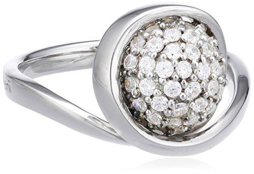 Merii Damen-Ring 925 Sterlingsilber rhodiniert Zirkonia weiß Gr. 56 (17.8) M0519R/90/03/56