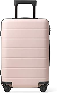 SMLCTY Luggage Lightweight,Mute 360° Rotating Universal Wheel Adjustable Lever Large Capacity Trolley Case Suitcase (Color : Pink, Size : 20 inch)