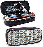 Acuario Seashell y cangrejos Diseño Estuche de lápices de cuero Bolsa de papelería Bolsa de cosméticos de maquillaje
