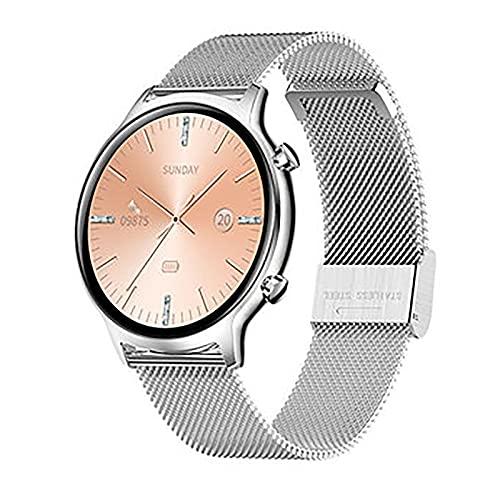 ZGZYL FT18 Ladies Fashion Smart Watch, Podómetro De Rastreador De Actividades con Monitor De Ritmo Cardíaco IP68 Mano Deportiva Impermeable para iOS Android Smart Watch,C