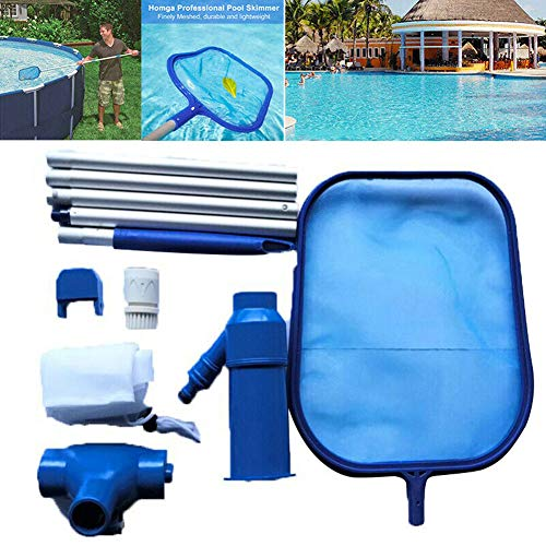 Find Discount beiyoule Pool Cleaning Set, Detachable Pole Pool Vacuum Head and Pool Cleaning Net Set...