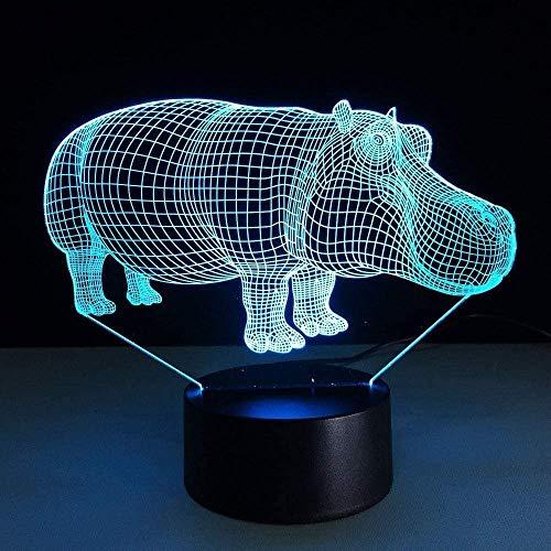 3D nachtlampje LED bedlampje USB Lighting illusie lamp met kleurverloop acryl woonsfeer eettafel kerstdecoratie nachtkastje kerstcadeau